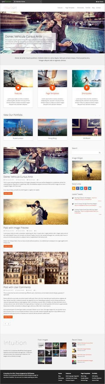 Intuition Pro WordPress Photography Theme  @ http://sundaestudio.com #wordpress themes -  intuition pro theme