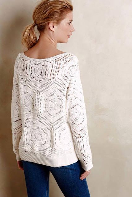 Hello darlings… So…the famous and beloved Anthropology pullover… :) I am not a fan of creating patterns without a chart , especially when it comes to famous brands that employ cheap labor for the