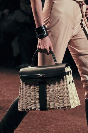 Wicker Kelly Bag - Hermes