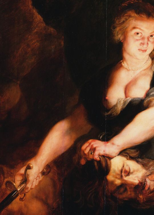 Peter Paul Rubens. Detail from Judith with the Head of Holofernes, 1616.