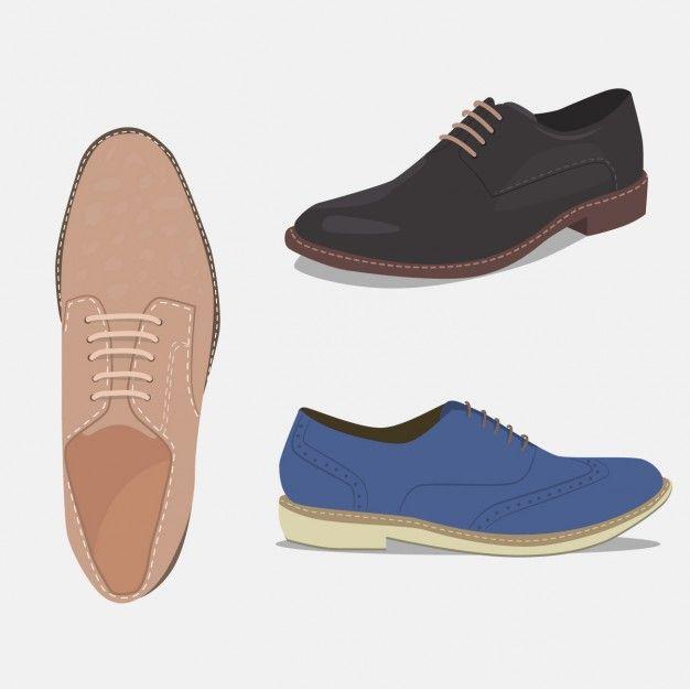 Set de zapatos elegantes Vector Gratis