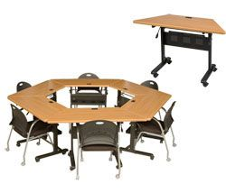Folding Conference Table - would funciton for meetings and workshops