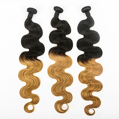 Body Wave Human Hair Weaves Ombre Color Human Hair Weaves