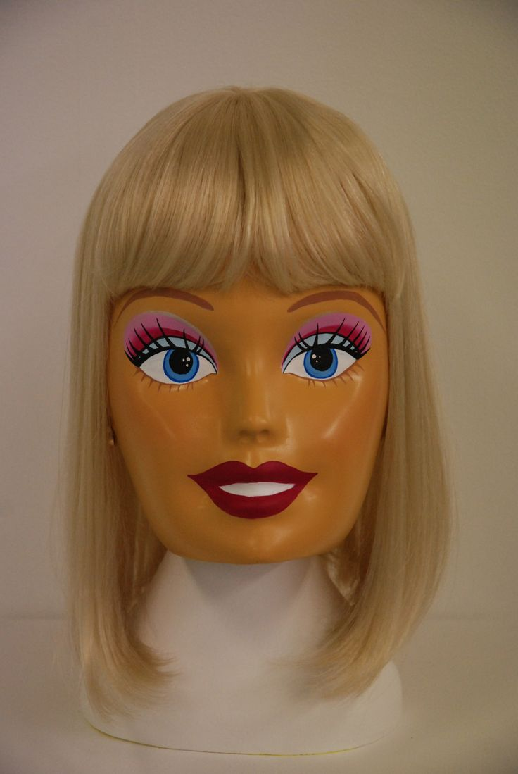 "2013 ""I'm a Barbie Girl"" 3D printed life size barbie doll head/mask"