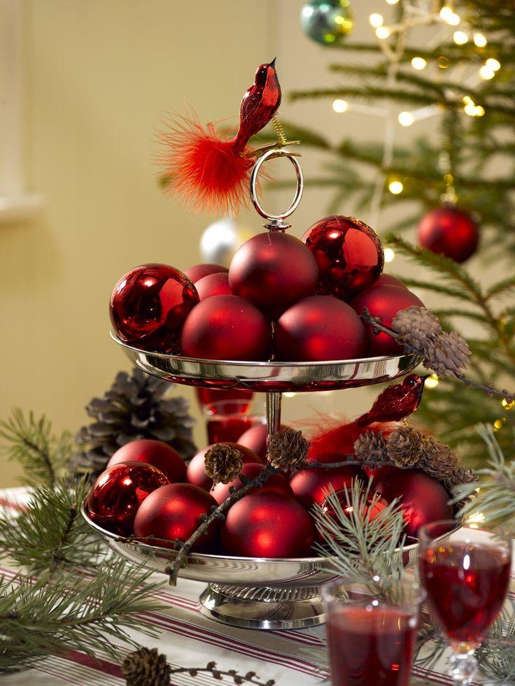Har du dårlig tid til pynting før jul? Da kan kanskje en slik enkel dekorasjon redde kvelden.