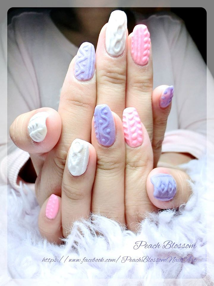 Cozy knitted Nail Design 2016 that Makes You Perfect in this Winter - Fashion Craze