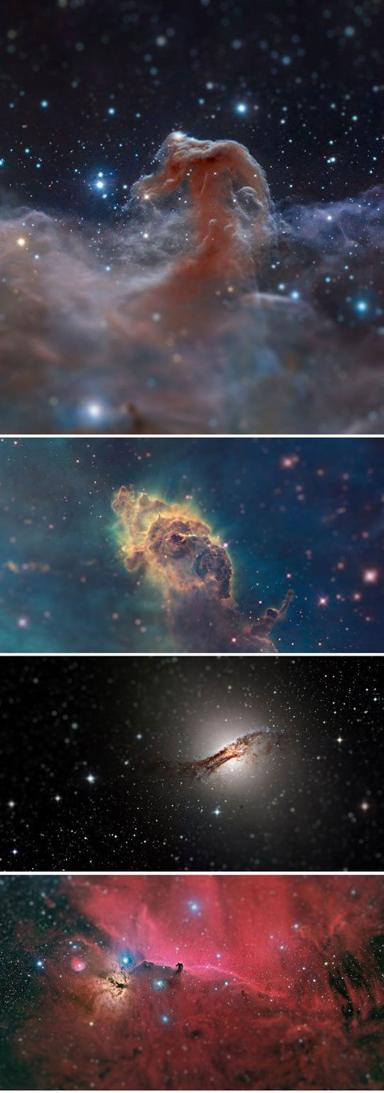 Tilt Shift Filter Applied To Hubble Photos. I think they now look like the insides of gems... You can see how its done at http://trick-photography.org/trick-photography-book-review/