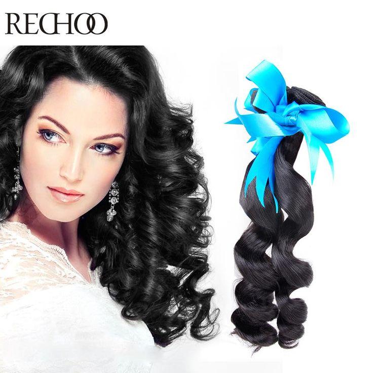 Brazillian Loose Wave Virgin Human Hair Bundles 1 Piece Hair Extensions De Cabello Humano Brazilian Hair Weaves Loose Wavy