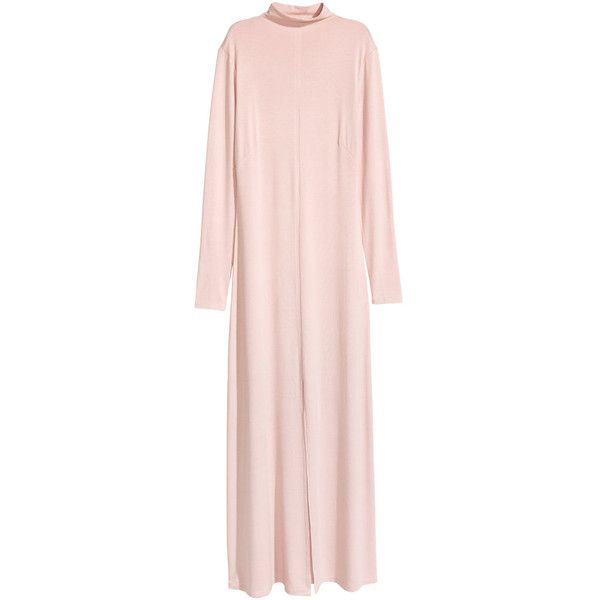 Mock Turtleneck Maxi Dress $29.99 (1.755 RUB) ❤ liked on Polyvore featuring dresses, long sleeve turtleneck dress, long sleeve maxi dress, long maxi dresses, long sleeve jersey and long sleeve dresses