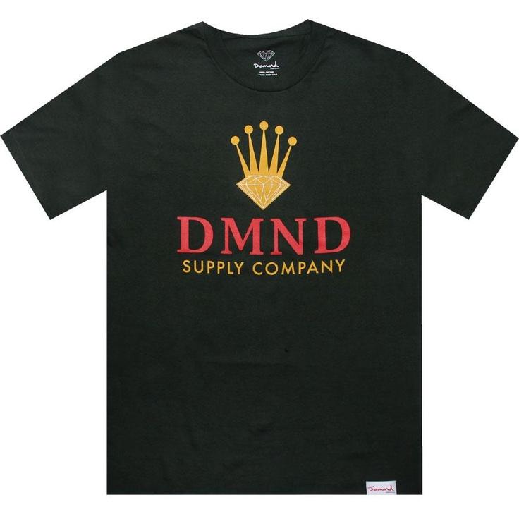 Diamond Supply Company DMNDs Crown tshirt in green