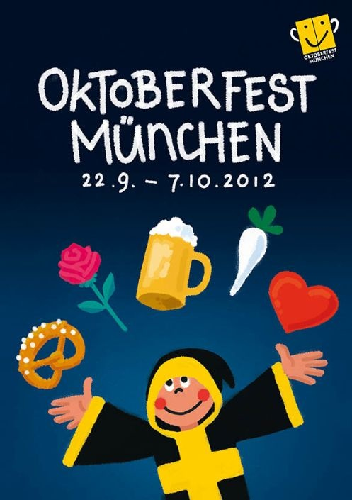 The awarded poster for this year's (2012) Oktoberfest. - 10 walking minutes far away from our Hotel :)