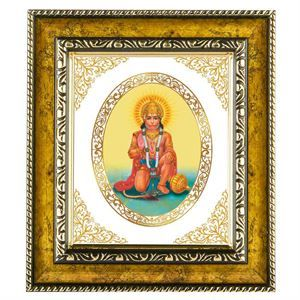 The lord hanuman gifts in this wall hanging