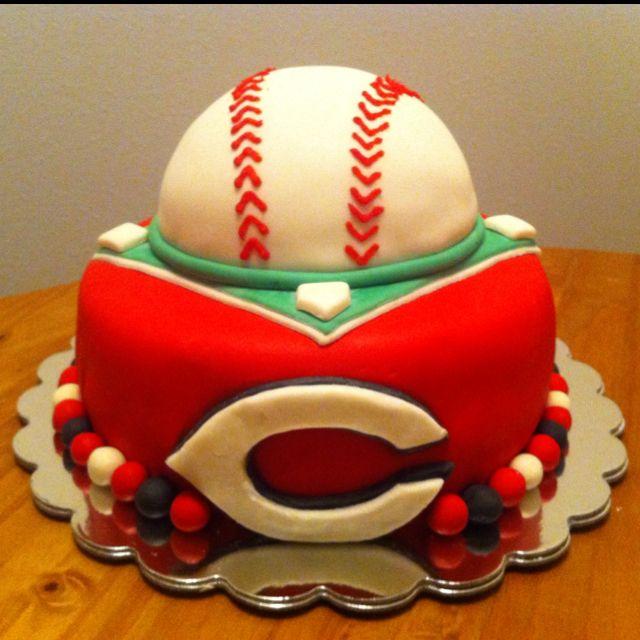 Cincinnati Reds cake I made for a birthday :-)