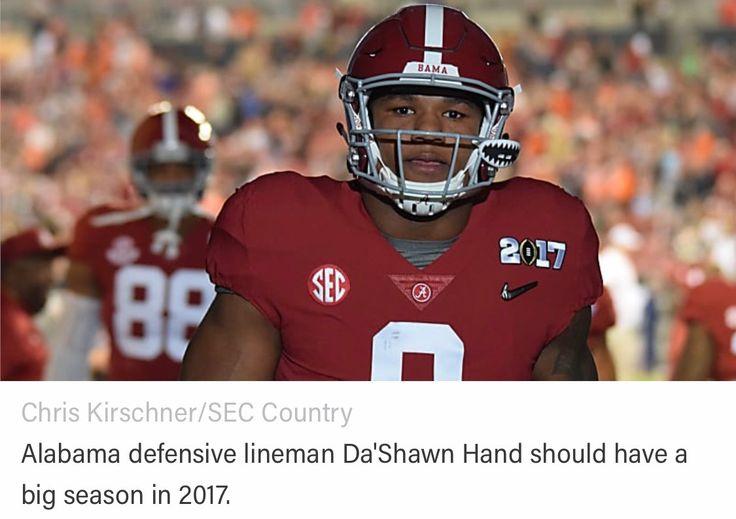 "Da'Shawn Hand - ""Important Alabama Players for 2017"" #Alabama #RollTide #Bama #BuiltByBama #RTR #CrimsonTide #RammerJammer"