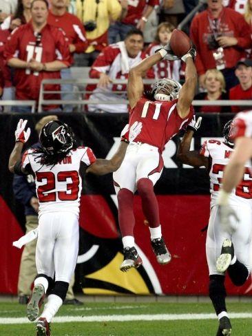 Cardinals Falcons Football: Glendale, ARIZONA - Larry Fitzgerald