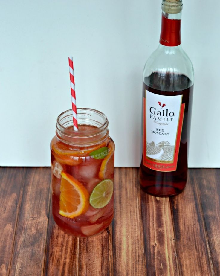 Citrus Moscato Sangria recipe with Gallo Family Red Moscato wine is a fresh and delicious summer cocktail
