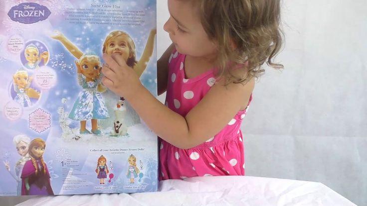 Принцессы Эльза и Анна Дисней Холодное Сердце кукла Фроузен распаковка в...