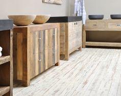 oud houten badkamermeubels