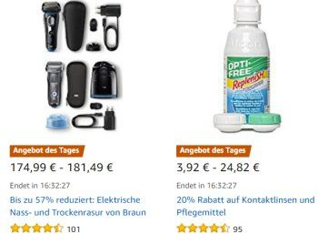 Amazon: Tageslinsen und Pflegemittel für einen Tag reduziert https://www.discountfan.de/artikel/technik_und_haushalt/amazon-tageslinsen-und-pflegemittel-fuer-einen-tag-reduziert.php Bei Amazon sind für einen Tag Tageslinsen und Pflegemittel zu reduzierten Preisen zu haben. Die Bewertungen fallen mit 4,4 bis 5,0 Sternen sehr positiv aus. Amazon: Tageslinsen und Pflegemittel für einen Tag reduziert (Bild: Amazon.de) Die Tageslinsen und Pflegemittel mit Rabatt sind nur am..