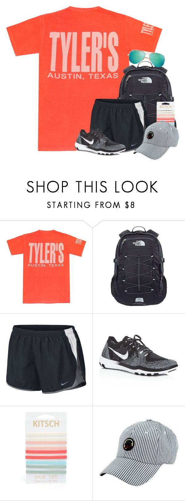 """""""Summer Travels Contest!"""" by amberfmillard-1 ❤ liked on Polyvore featuring CC, The North Face, NIKE, Kitsch, Southern Proper and Ray-Ban"""