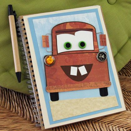 "Here's a journal kids will never ""tire"" of writing in. Decorated with the likeness of Radiator Spring's rustiest resident, it's meant for mapping out..."