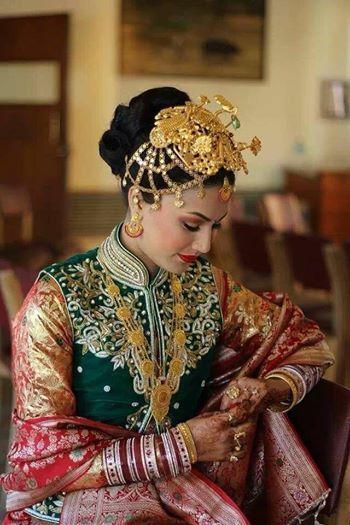 beautiful newari bride