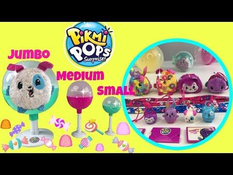 Moose Toys' PIKMI POPS Jumbo Vs. Medium Vs. Small New Scented Surprise Toys from Moose Toys - YouTube