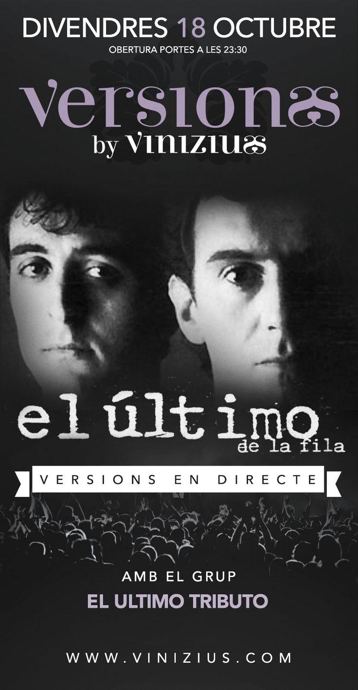 Us agrada El Último de la Fila? Aquest pròxim divendres, #tribut a #Vinizius #Mataró, on sinó? #concert #música #discoteca #oci #nit #festa #versions #elúltimotributo #elúltimodelafila