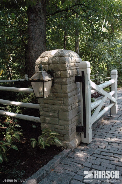 Really Cool Entry To House Lannon Stone Entry Pillar