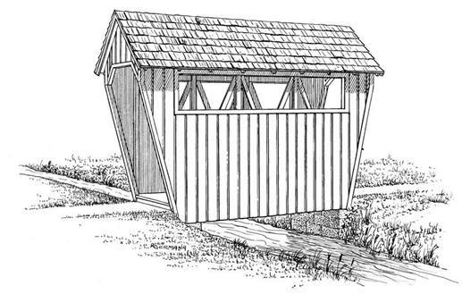 51 best garage house plans images on pinterest garage for Covered bridge design plans