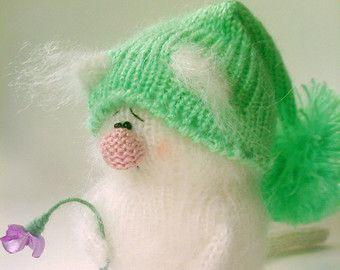 Chat blanc avec coeur veste Miniature chat par MiracleStoreRU