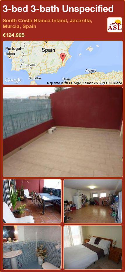 3-bed 3-bath Unspecified in South Costa Blanca   Inland, Jacarilla, Murcia, Spain ►€124,995 #PropertyForSaleInSpain