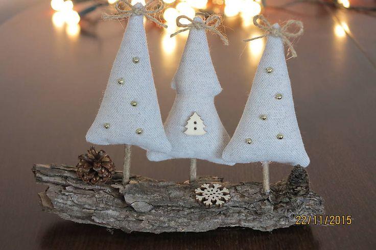 Dekorácie - Vianočné stromčeky na kôre - 6093333_