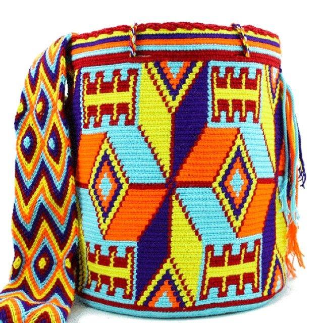 Buy this stunning Wayuu Mochila now at www.mobolso.com