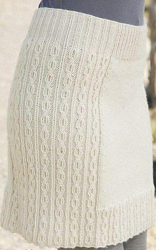 Белая юбка связана спицами . Обсуждение на LiveInternet - Российский Сервис Онлайн-Дневников