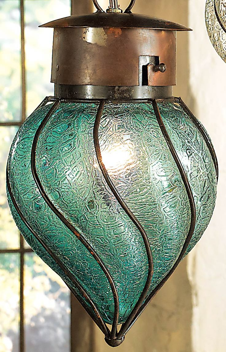 Southwest Glass Pendant Light - Medium
