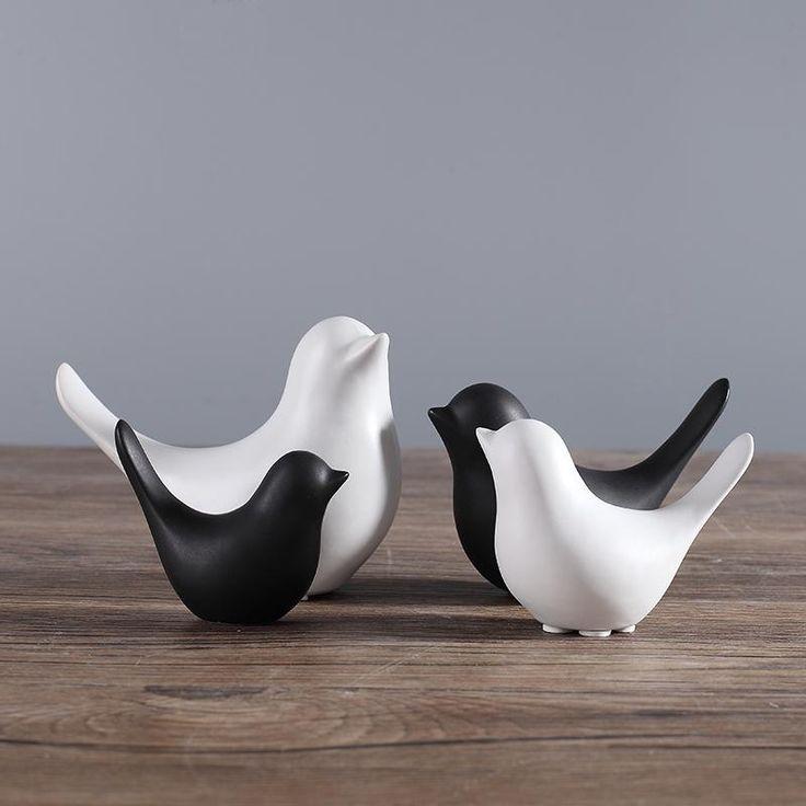 Ceramic Love Bird Home Decor (4/pkg)