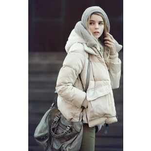 New Arrival: Slouchy Hooded Puffer Coat #winterfashion