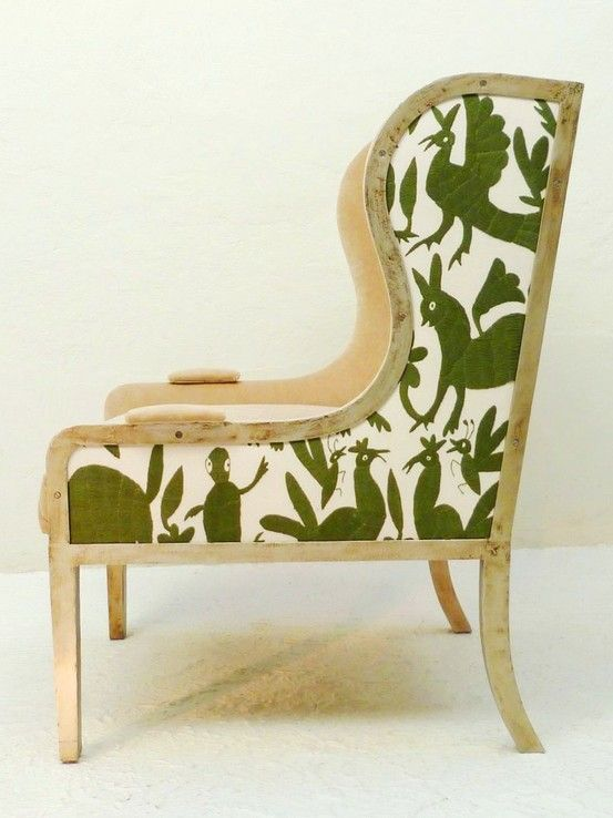The Semi-Designed Life: August 2011. More Otomi pattern with a very present wood…