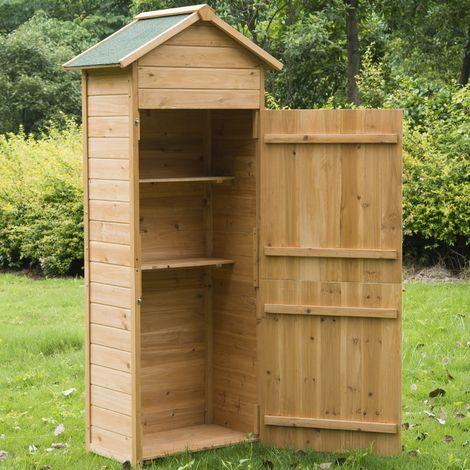 Abri en bois abri de jardin rangement outils exterieur meuble armoire - Jardin piscine
