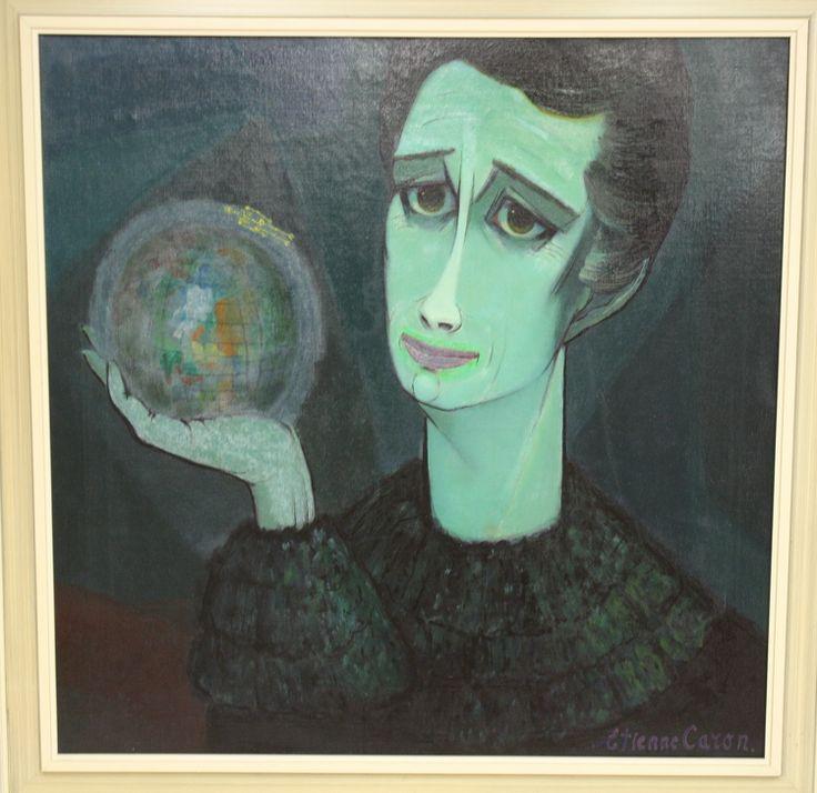 Man met globe, Etiennen Caron
