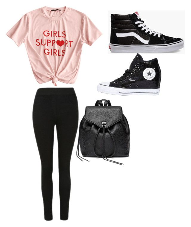 """""""Sans titre #1"""" by maheelaplante ❤ liked on Polyvore featuring Vans, Converse and Rebecca Minkoff"""