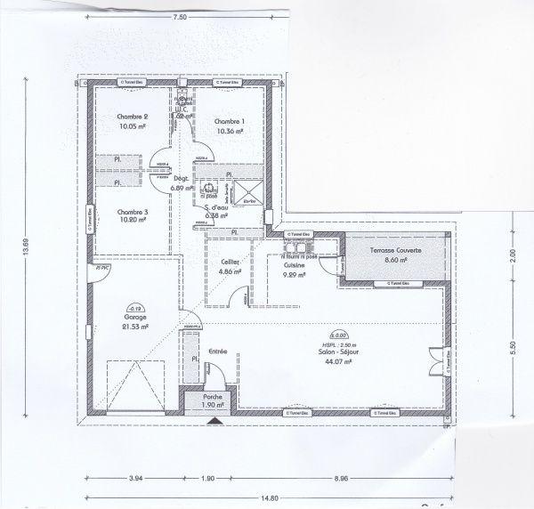 Les 217 meilleures images du tableau plan maison sur for Plan maison 110m2