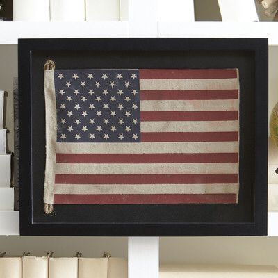 Small American Flag Framed Wall Art
