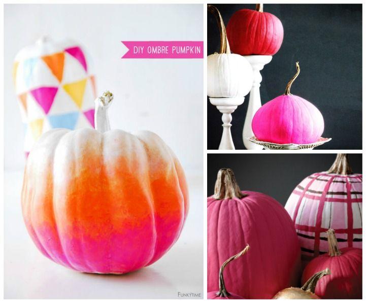 Pumpkin painting coastal DIY