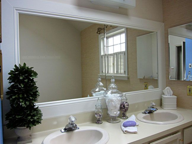 How To Frame A Bathroom Mirror Pinterest Framed Mirrors Diy And Crafts And Miter Saw