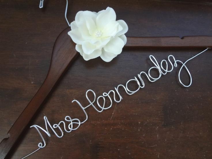 Wedding dress hanger personalized hanger bride hanger for Custom hangers for wedding dress