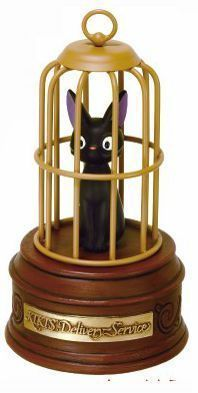 "Alternative view 1 of Jiji's Gift Music Box  (Studio Ghibli ""Kiki's Delivery Service"")"