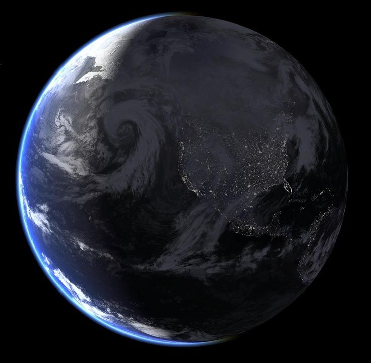 nasa night view of earth - photo #25