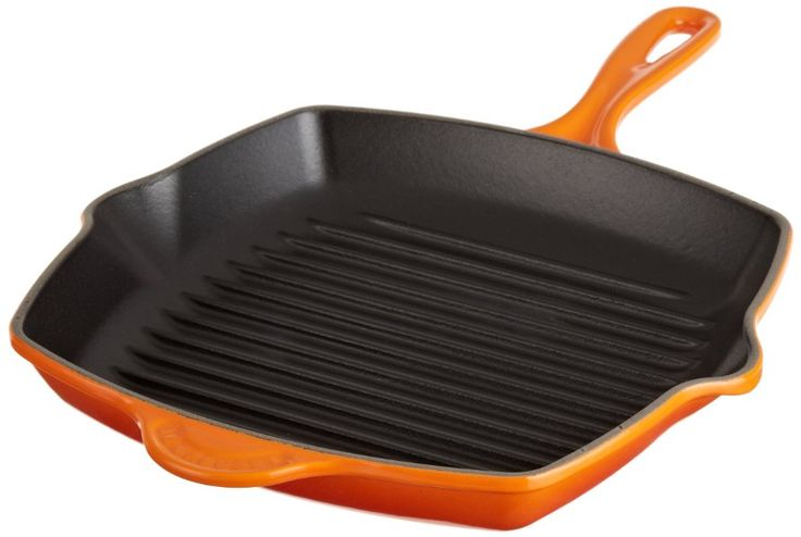 Le Creuset Square Skillet Grill Pan:Amazon:Kitchen & Dining